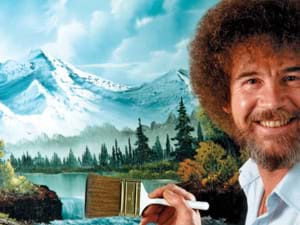 Alternatief voor graffiti workshop: schilderen als Bob Ross